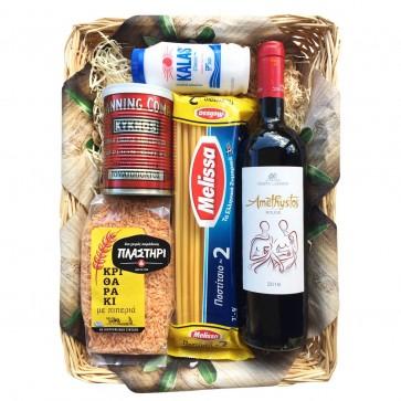 Geschenkkorb mit Pasta & Rotwein - Nr. 6