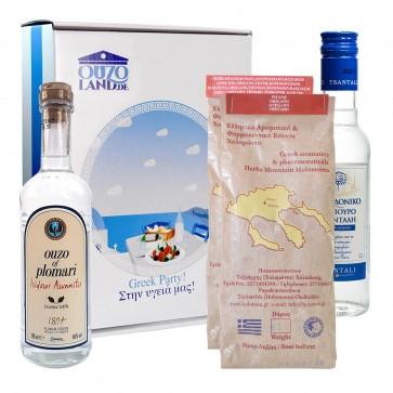 Geschenkidee mit Gewürze für Souvlaki & Gyros, Ouzo, Tsipouro