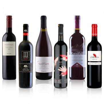 Typischer Griechischer Wein Probierpaket Rotwein | Ouzoland