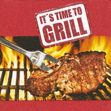 Servietten It's time to grill 33 x 33 cm 20 Stück
