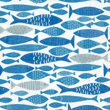Servietten Motiv Fische 33 x 33 cm 20 Stück