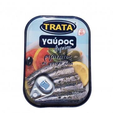 Sardellen in Pflanzenöl mit Oregano | Trata (100 g)