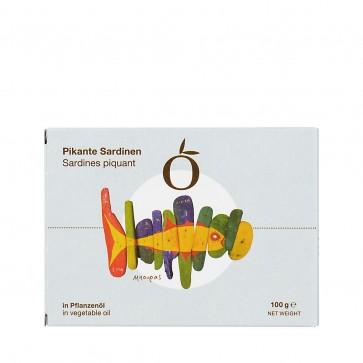 Sardinen in Pflanzenöl pikant | Vialco (100 g)