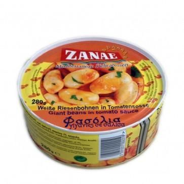 Weiße Dicke Bohnen Gigantes in Tomatensoße | Zanae (280 g)