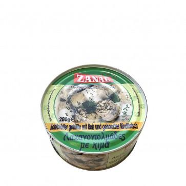 Kohlblätter gefüllt mit Reis und Rinderhackfleisch   Zanae (280 g)