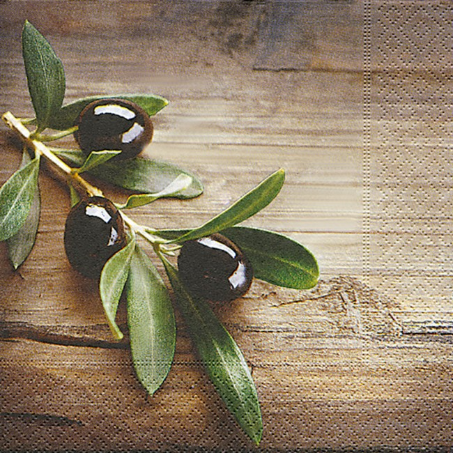Lunchservietten motiv oliven 33 x 33 cm 20 st ck ouzoland - Griechische tischdekoration ...