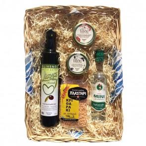 Geschenkkorb mit Ouzo & Olivenöl