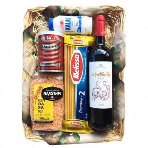 Geschenkideen aus Griechenland Geschenkkorb mit Pasta & Rotwein - Nr. 6