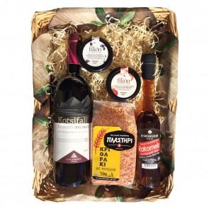 Geschenkideen aus Griechenland Geschenkkorb mit Rotwein