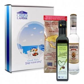 Grillpaket für IHN | Olivenöl, Grillgewürz & Ouzo