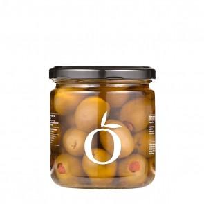 Grüne Oliven ohne Stein gefüllt mit getrockneten Tomaten | Filion (220 g)