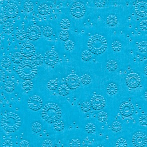 Servietten unifarbig aqua geprägt 33 x 33 cm 16 Stück