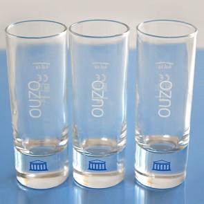 Ouzo Gläser 3er Set Stamper 70 ml