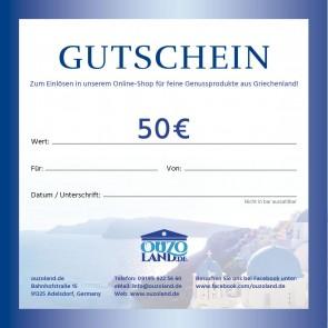 Ouzoland Gutschein 50 EUR