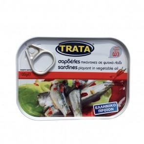 Sardinen in Pflanzenöl pikant | Trata (100 g)