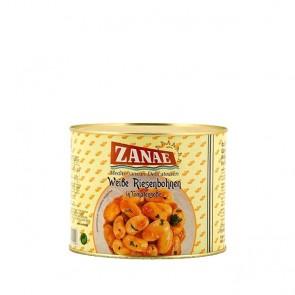 Zanae Gigantes 2 kg Dose weiße dicke Bohnen in Tomatensauce