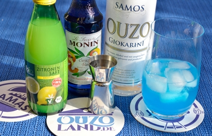 Cocktail Ouzo Blue