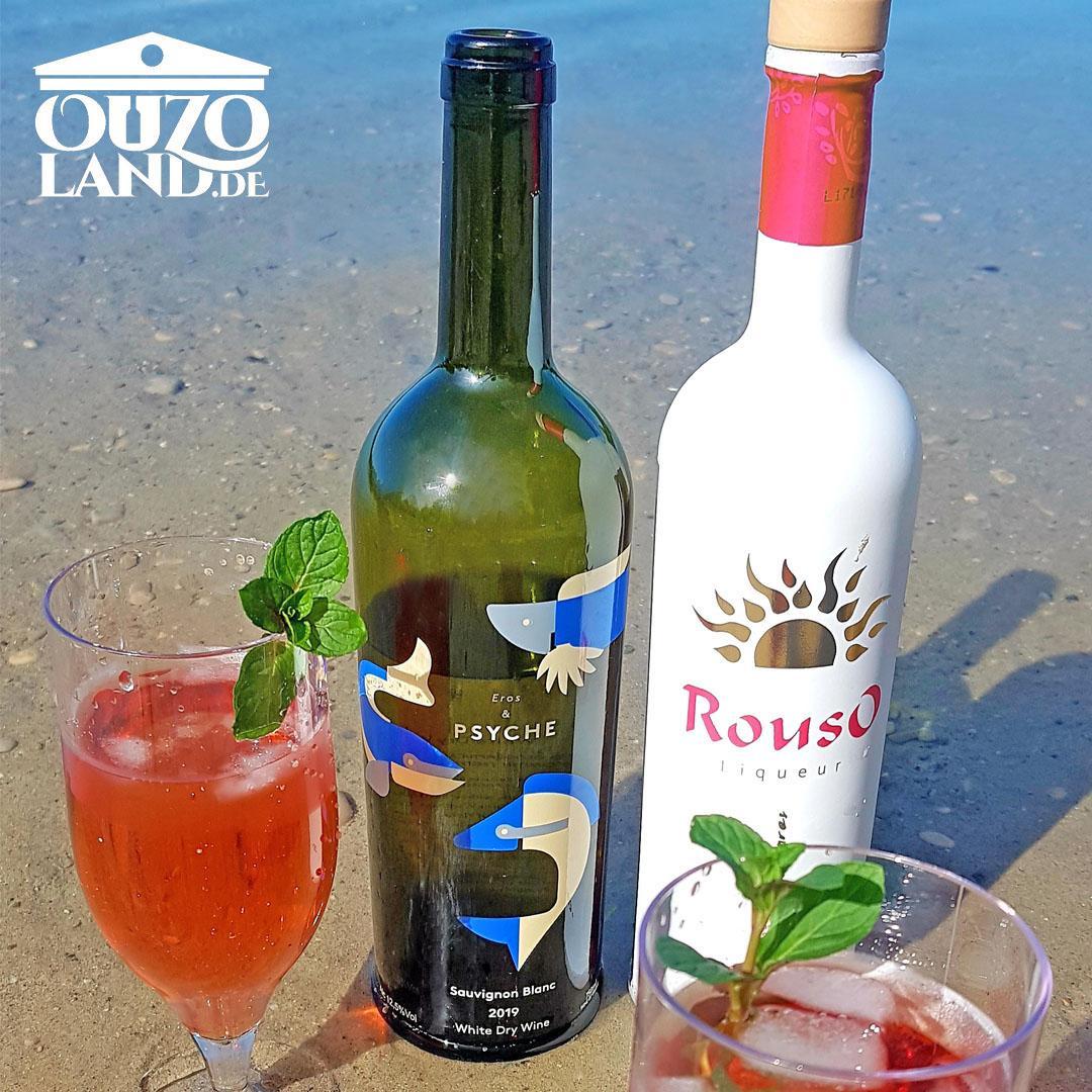 Sommer-Cocktail mit Rouso und Weißwein