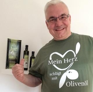 Griechisches Olivenöl mit Gesicht kaufen